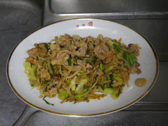 14.09.20恥飯 _ 朝、肉野菜炒め食った。.JPG